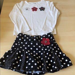 Girl's matching skort set